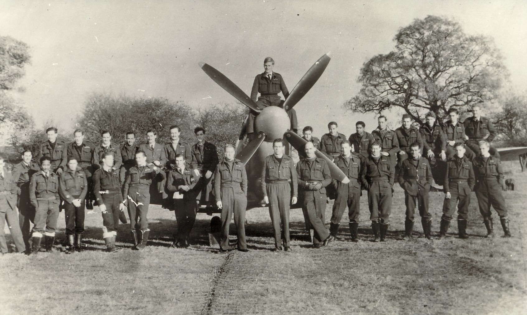14, 132 Sqdn,RAF Detling, JJ Caulton front row, 5th from right