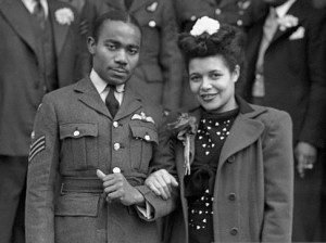 Wedding of Owen Sylvestre and Laureen Goodare, 1945