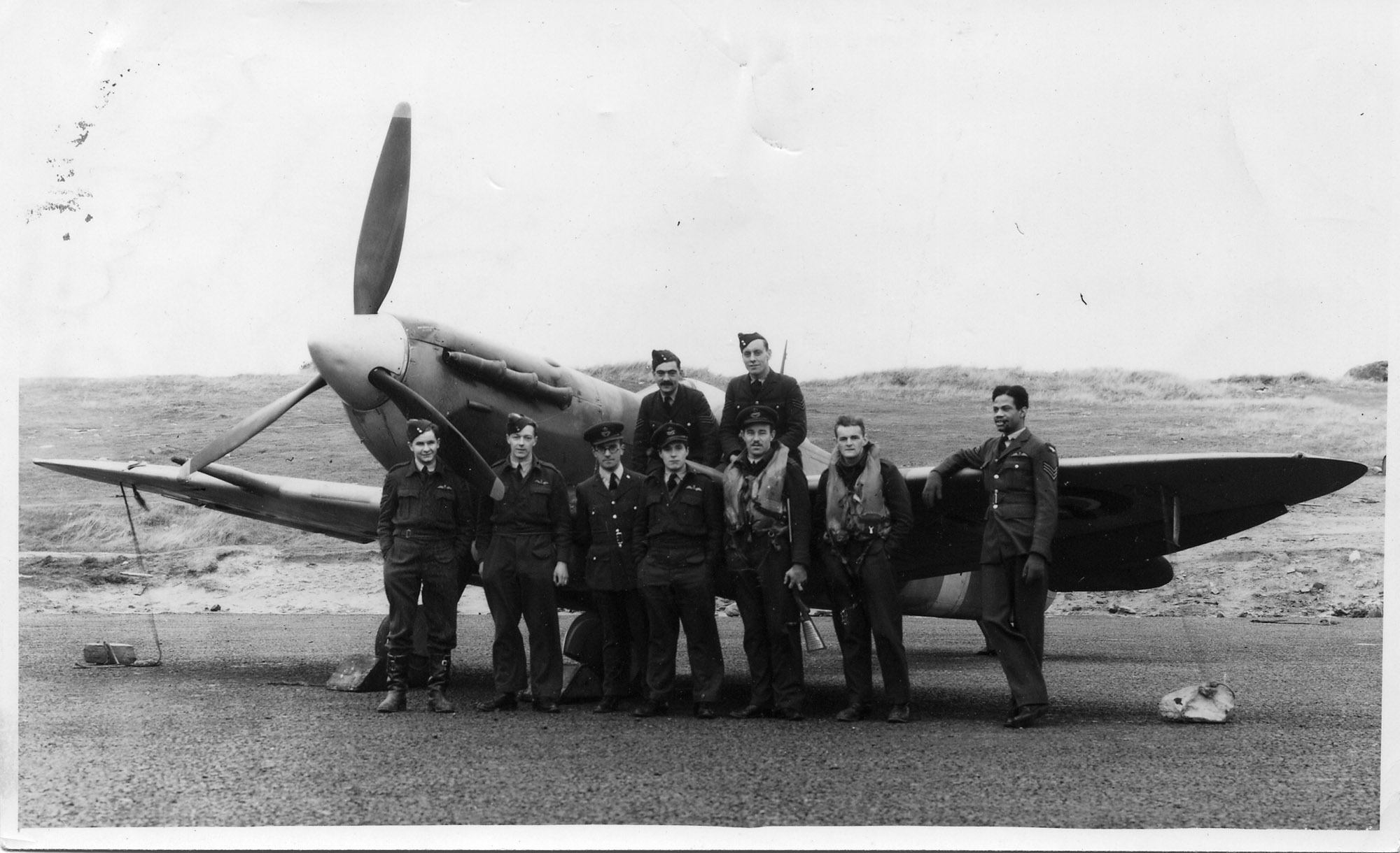F/O Julian Marryshow with 602 Sqn in 1943