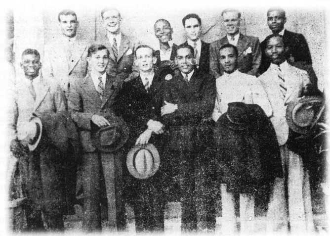 Back row: C.P. King, J.S. Partridge, A.A. Walrond, J.L.L. Yearwood, M.R. Cuke, E.W. Barrow - Front row: G.D. Cumberbatch, A.P.C. Dunlop, H.E.S. Worme, G.A. Barrow, A.O. Weekes, B.F.H. Miller.