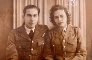 William Wade Jeffery RAF and his sister Grace Jeffery, ATS
